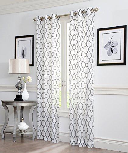 "2 Piece Sheer Grommet Window Curtain Panels 38"" X 84"""