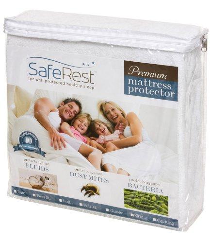 Review Twin Size Saferest Premium Hypoallergenic Waterproof Mattress Protector Vinyl Free