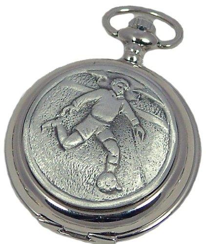 A E Williams 4836 Football mens quartz pocket watch with chain