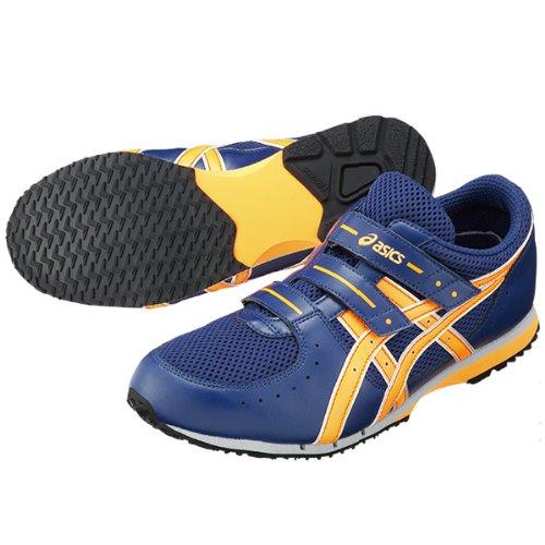 asics(アシックス) 消防操法専用 シューズ 作業靴 メンズ ブルー×オレンジ FOA004-5030 28.0cm