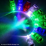 Etekcity 100 Pieces Bright LED Finger Lights Light up Toys Party Favor Supplies (Assorted Color)