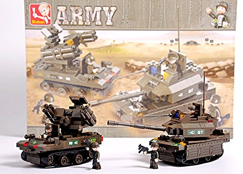 M1A2 Abrams Battle Tank and TOR-M1 Rocket Launcher Army Vehicles Lego Compatible Blocks Bundle (Hat American Chopper compare prices)