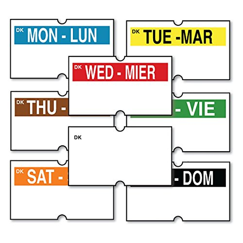 DayMark IT110410 DuraMark Date Coder Permanent Label, Day-Of-The-Week with Blank Kit for DM3 SpeedyMark 10 1-Line Marking Gun (Pack of 8 Rolls) (Restaurant Labels compare prices)