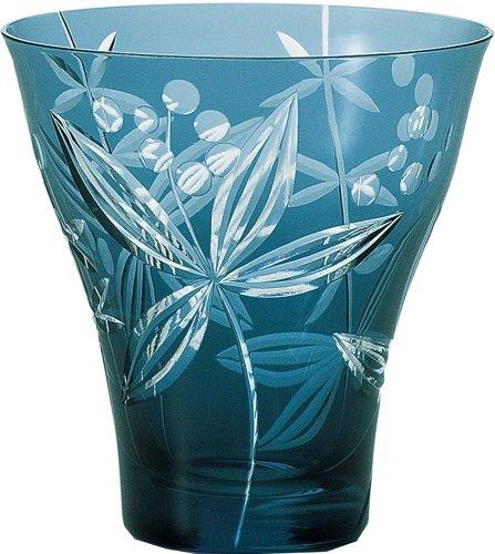 タンブラー キリコ きぬた草 コップ ガラス 350ml HG109-51BG