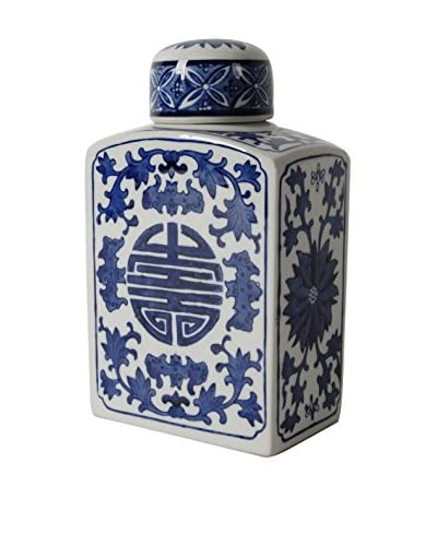 Squared Blue/White Jar