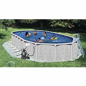 Heritage Pools 52 Complete Oval Pool Package 45 X 18 X 52 Above Ground Swimming