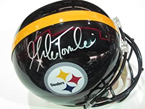 Mike Tomlin Head Coach Pittsburgh Steelers Signed Autographed Full Size Helmet...