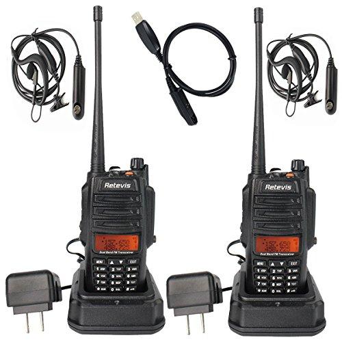 Retevis RT6 IP67 Waterproof Anti-dust 2 Way Radio Ham Radio Transceiver VHF/UHF 136-174Mhz /400-520Mhz with Waterproof Earpiece (2 Pack)