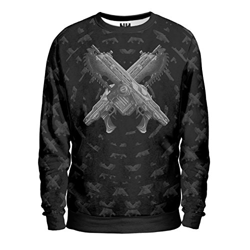 GEARS OF WAR Felpa Uomo - Double Lancer Sweatshirt Man - Gears of War 4 Videogioco Microsoft Xbox One PC Windows Game T-Shirt