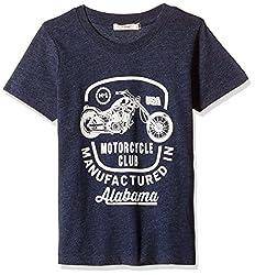 Fox Baby Boys' T-Shirt  (Blue Melange_3-6 months_327563)