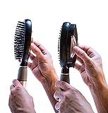 Qwik Clean Hairbrush Easy Clean Brush (Q Brush) (Black)
