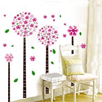 Dandelion flower tree removable quote vinyl nursery room wall decals stickers by Bonamart