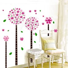 [Best price] Kids&#039 - Dandelion flower tree removable quote vinyl nursery room wall decals stickers - toys-games