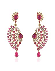 I Jewels Tradtional Gold Plated Elegantly Handcrafted Pair Of Fashion Earrings For Women. - B00N7IOGJI