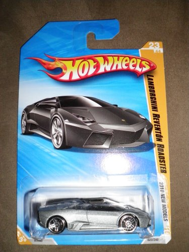 2010 hot toys:HOT WHEELS 2010 NEW MODELS 23 OF 44 GREY LAMBORGHINI REVENTON