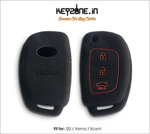 Keyzone New silicone key cover fit for: New i20 3 button flip key