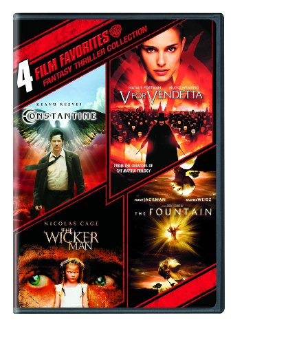Cover art for  4 Film Favorites: Fantasy Thrillers (Constantine / V For Vendetta / The Wicker Man / The Fountain)