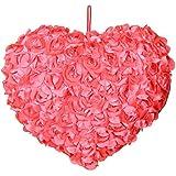 Gitz Rose Petals Valentine Heart Shaped Soft Toy, Orange