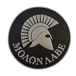 ACU Gray Spartan Molon Labe US Marine Navy Seals Morale Tactical PVC 3D Gomme Velcro Écusson Patch