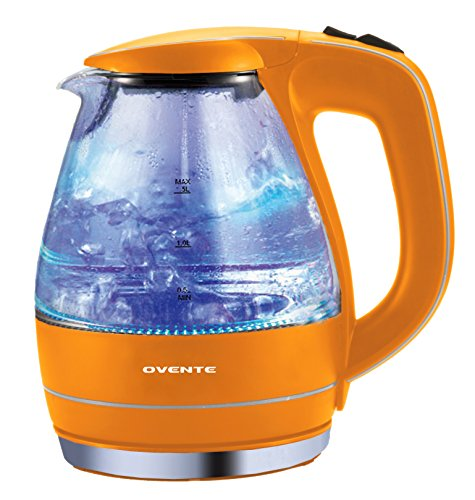 Ovente Kg83O Orange 1.5L Glass Electric Kettle