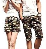 (アルファーフープ) α-HOOP カモフラ ペアルック 迷彩 柄 ハーフ ショート ファッション パンツ 短 パン S ~ XXL 大きい サイズ も メンズ レディース 用 AA29(05.メンズ.(XXLサイズ))…
