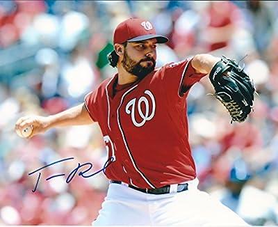 Autographed Tanner Roark 8x10 Washington Nationals Photo