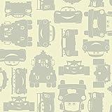 York Wallcoverings DS7668 Walt Disney Kids II Lightning and Mater Wallpaper, Cream/Light Grey