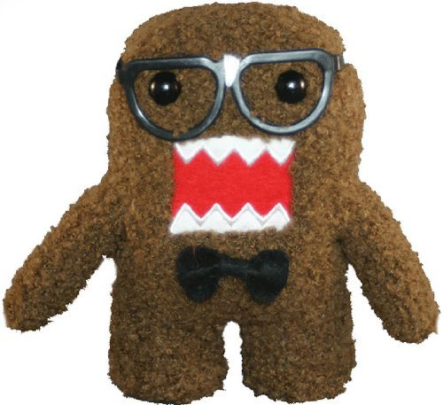 "Licensed 2 Play Domo Nerd 6 1/2"" Plush Novelty Doll"