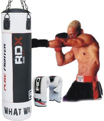 RDX Professional 5FT Filled Heavy Punch Bag+Boxing Gloves MMA UFC W4