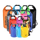 Waterproof Dry Bags - Floating Compression Stuff Sacks Gear Backpacks for Kayaking Camping - Bundled with Phone Case and Pocket Tool (Orange, 10L)