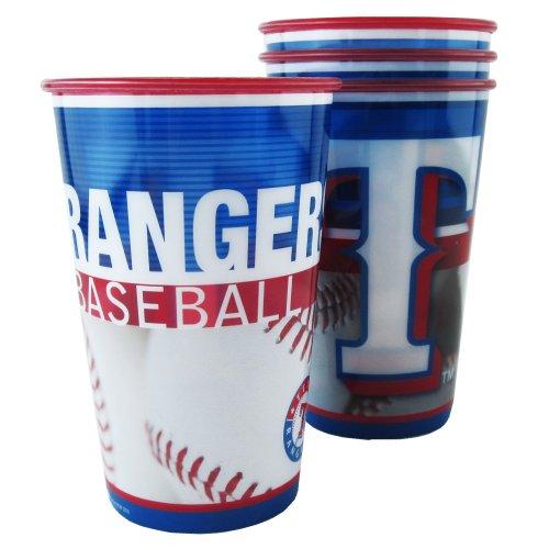 MLB Texas Rangers Souvenir Cups (4-Pack), 20-Ounce
