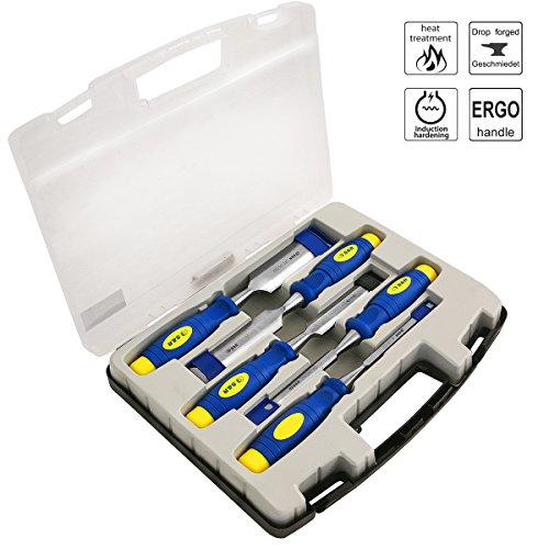 SR-Stechbeitelsatz-5-Stck-6-12-20-25-32mm-Mehrkomponenten-Hllen-Professional-im-transparenten-Koffer