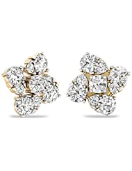 WearYourShine By PC Jeweller The Maribelle 18 K Gold And Diamond Stud Earrings