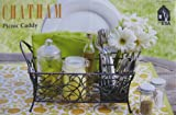 Chatham Wrought Iron Picnic Caddy Holds Napkins, Flatware and Napkins