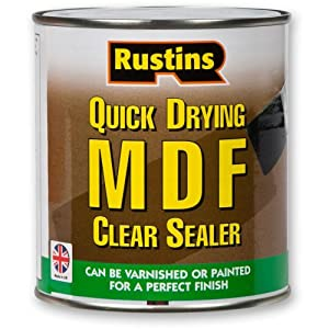 Rustins MDF Sealer Quick Drying, Clear Sealer Touch Dry In 30 Minutes ALL SIZES by Rustins