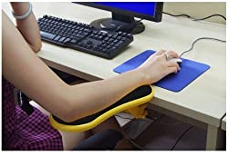Skyzonal® Ergonomic, Adjustable Computer Desk Extender Arm Wrist Rest Support (YELLOW)