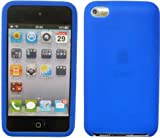 Mobilizers: Plain Silicone Skin Case For Apple iPod Touch 4th Generation (8GB 16GB 32GB 64GB) With Free Screen Protector - Blue
