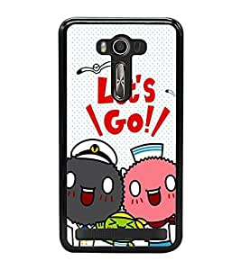 Fuson Premium 2D Back Case Cover Lets go With white Background Degined For Asus Zenfone Selfie::Asus Zenfone Selfie ZD551KL
