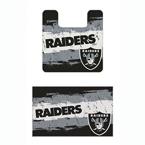 Set Of 2 Nfl Oakland Raiders Bath Mats Football Team Logo