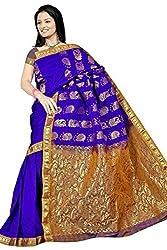 Pawan Tex kanjeevaram silk sree for women's (silk02_blue)