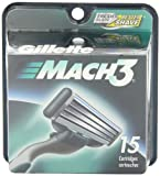 Gillette Mach3 Cartridges 15 Count Package