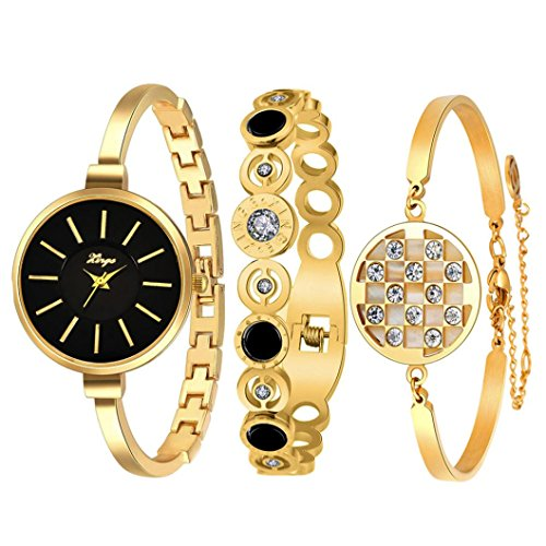 autumnfall-womens-swarovski-crystal-accented-gold-tone-and-black-bangle-watch-with-bracelet-set-609g