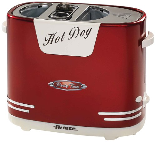 Ariete 186 Hot Dog Maker im 50-er Jahre Retrodesign, 650 W
