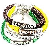 Eshoppee Friendship Metal Bracelets Set Of Four Colours For Boys And Girls