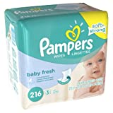Pampers Baby Fresh Wipes 12x Box with Tub, Family size 1728ct