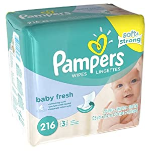 Pampers Baby Fresh Wipes 12x Box with Tub -1728 Wipes with tubs