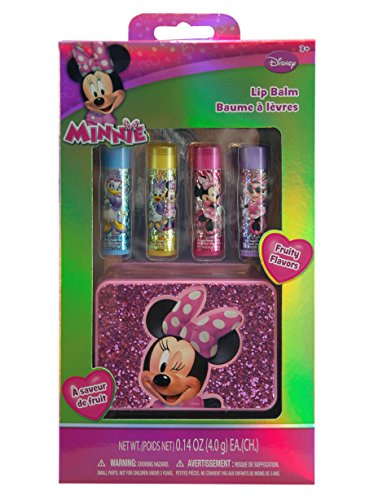 Disney Minnie Mouse Bowtique 4 Piece Lip Balm Gift Set With Carrying Case front-933190