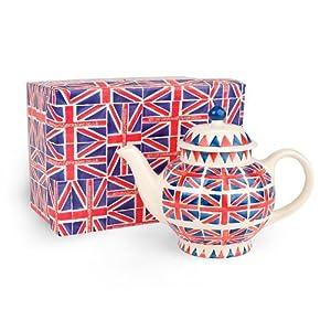 Emma Bridgewater Pottery Union Jack 4 Cup Teapot Gift Box
