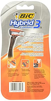 Cheapest BIC Hybrid 3 Comfort Disposable Razor, Men, 12-Count by BIC Razors - Free Shipping Available