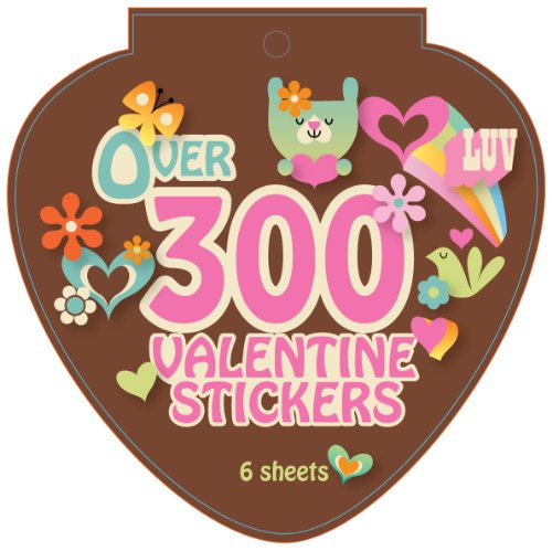 Paper Magic Valentine Jumbo Die Cut Sticker Book (300 Count) - 1